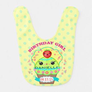 Custom Keepsake Cupcake Baby's First Birthday Bib Baby Bib
