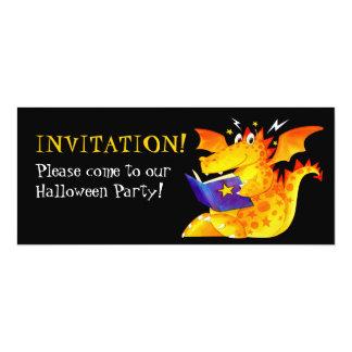 Custom Kids Funny Baby Dragon Halloween Card