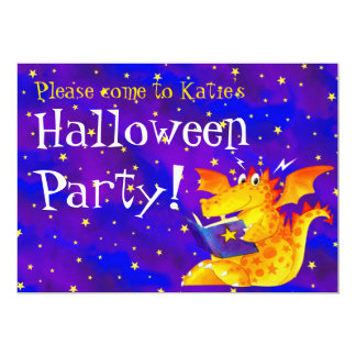 Custom Kid's Funny Halloween Dragon Card