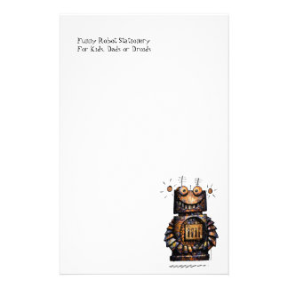 Custom Kid's Funny Robot Art Personalised Stationery