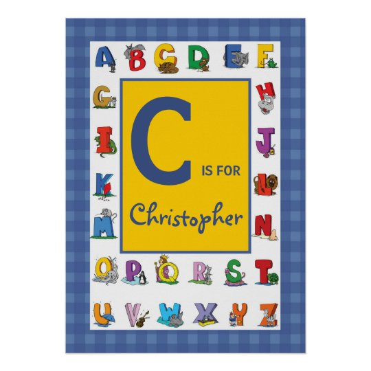 Custom Kids Name / Alphabet Poster