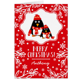 Custom Kid's Name Fun Christmas Cards for kids