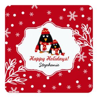 Custom Kid's Name Fun Christmas Cards for kids 13 Cm X 13 Cm Square Invitation Card