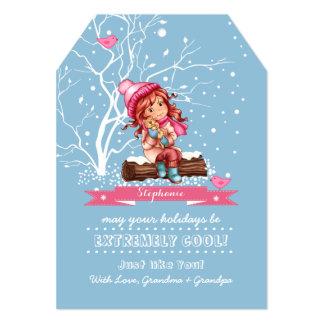 Custom Kid's Name Fun Christmas Cards for kids 13 Cm X 18 Cm Invitation Card
