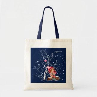 Custom Kid's Name Fun Christmas Gift Tote Bags