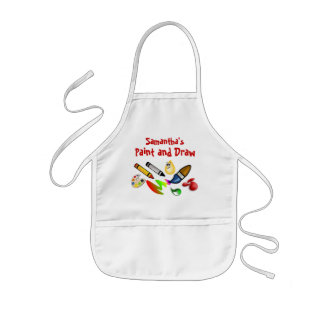 Custom Kids Paint Draw Arts and Crafts Kids Smock Kids Apron