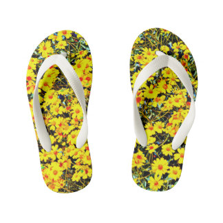 Custom Kid's Wildflower Flip Flops