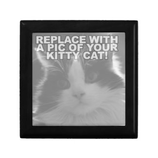 Custom Kitty Cat Small Square Gift Box
