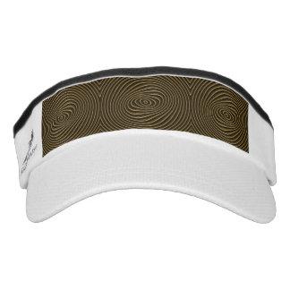 custom knit visor, white visor