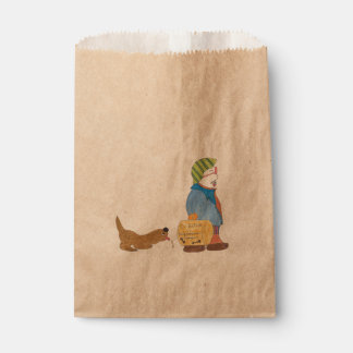 custom Kraft Favor bag with dog and vet Favour Bags