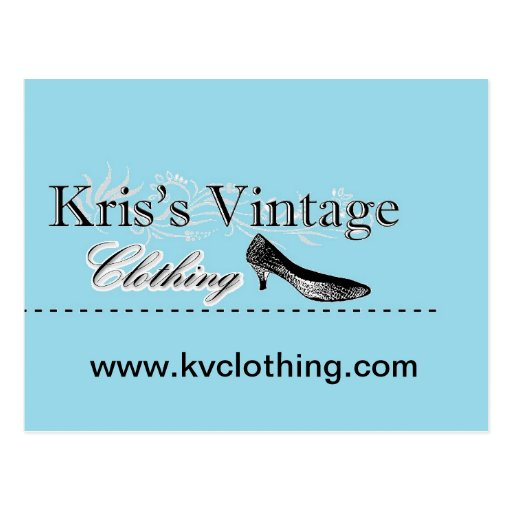 Custom Kris's Vintage Clothing Postcard