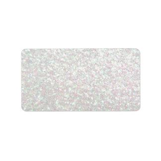 Custom Label - Glit Fab - Iridescent Address Label