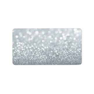 Custom Label - Sliver Lit Glit Fab Address Label