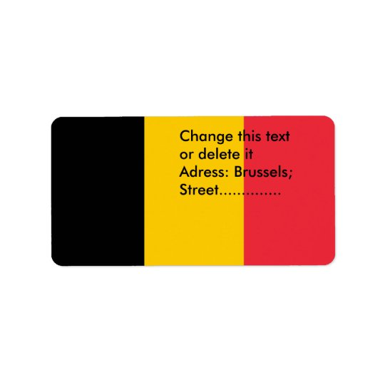 Custom Label with Flag of Belgium