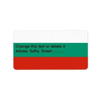 Custom Label with Flag of Bulgaria