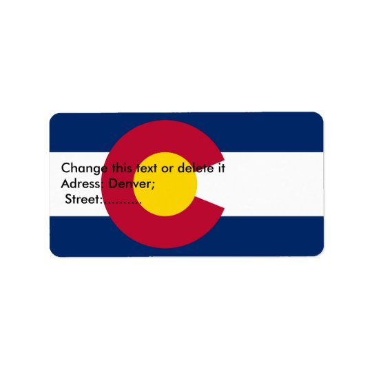 Custom Label with Flag of Colorado Address Label
