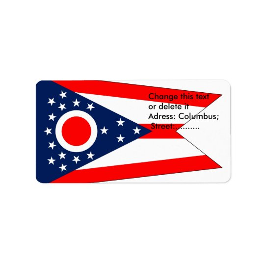 Custom Label with Flag of Ohio, U.S.A. Address Label