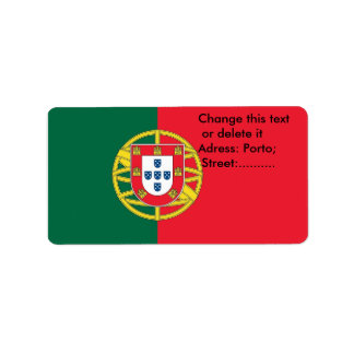 Custom Label with Flag of Portugal