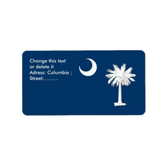 Custom Label with Flag of South Carolina, U.S.A.