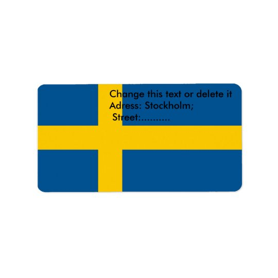 Custom Label with Flag of Sweden