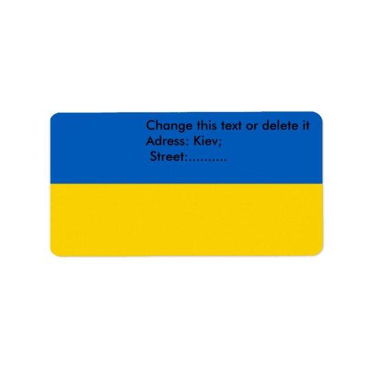 Custom Label with Flag of Ukraine
