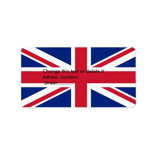 Custom Label with Flag of United Kingdom