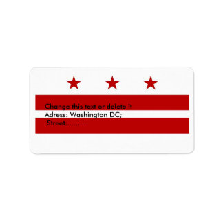 Custom Label with Flag of Washington DC, U.S.A.