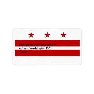 Custom Label with Flag of Washington DC, U.S.A. Address Label