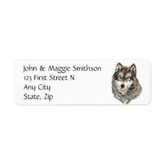 Custom Label Wolf, Wolves, Wild Animal, Nature,