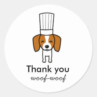 Custom Labels for Pet Dog Baked Treats Bakery Round Sticker
