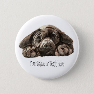 Custom Labrador Retriever - Dog Collection 6 Cm Round Badge