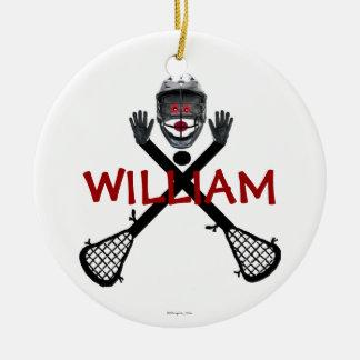 Custom Lacrosse Cartoon Round Ceramic Decoration