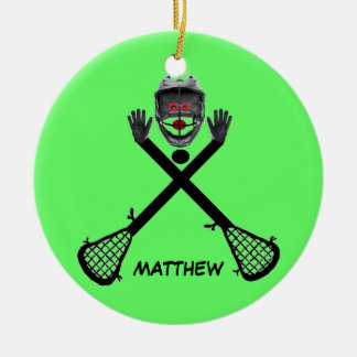 Custom Lacrosse Star Christmas Ornament