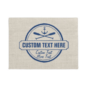 Custom Lake, Beach House & Boat Nautical Anchor Doormat