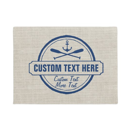 Custom Lake, Beach House & Boat Nautical Anchor