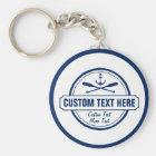 Custom Lake, Beach House & Boat Nautical Anchor Key Ring