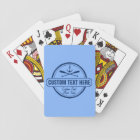 Custom Lake, Beach House & Boat Nautical Anchor Playing Cards