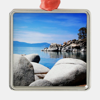 Custom Lake Tahoe Sand Harbor Photograph Christmas Ornament