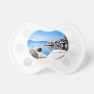 Custom Lake Tahoe Sand Harbor Photograph Pacifier
