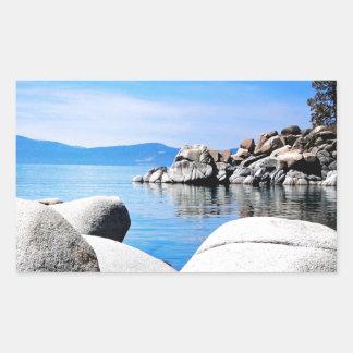Custom Lake Tahoe Sand Harbor Photograph Rectangular Sticker