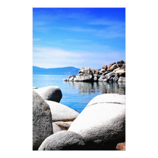 Custom Lake Tahoe Sand Harbor Photograph Stationery