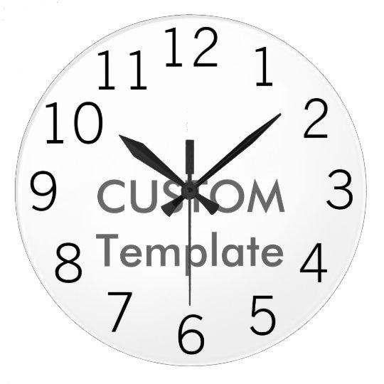 "Custom Large 10.75"" Round Wall Clock NEW GOTHIC"