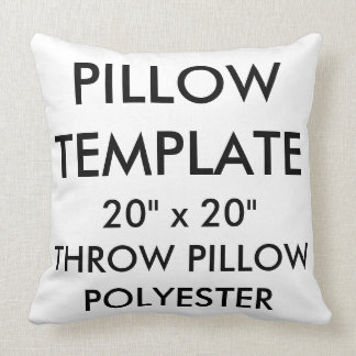 """Custom Large 20""""sq Polyester Throw Pillow Template"""