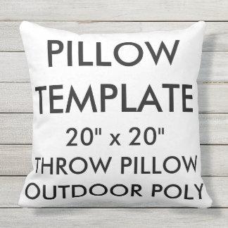"Custom Large 20""x20"" Outdoor Throw Pillow Template"