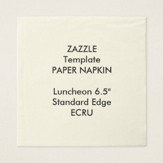 Custom Large ECRU Luncheon Napkin Papaer Template Disposable Napkin