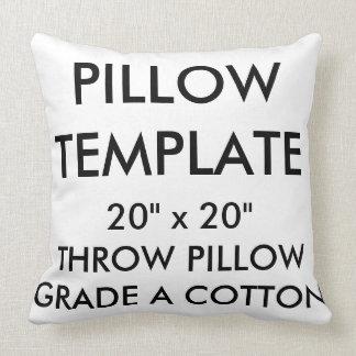 Custom Large Grade A Cotton Throw Pillow Template