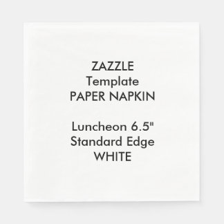 Custom Large WHITE Luncheon Paper Napkin Template