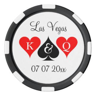 Custom Las Vegas wedding party favor poker chips