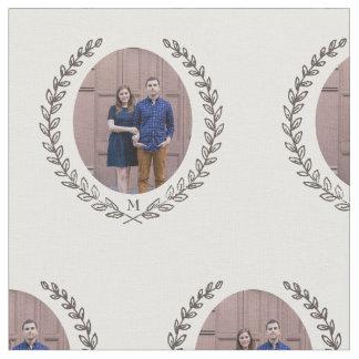Custom Laurel Monogram Fabric