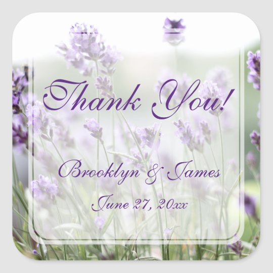 Custom Lavender Bohemian Wedding Favour Stickers